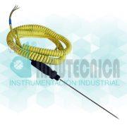 Sensor de temperatura tipo pincho con cable retráctil
